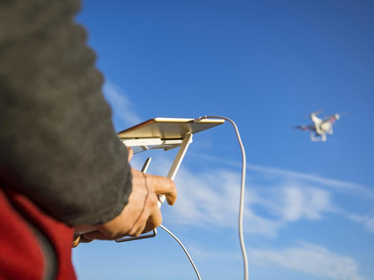 Flying a drone from a smartphone or tablet