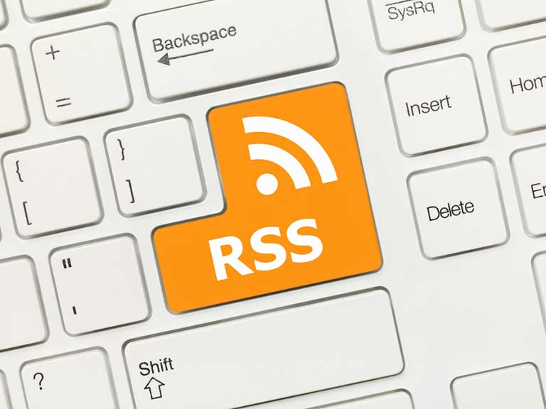 RSS symbol as a button on a keyboard