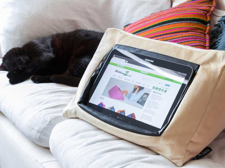 iPad Cushion Pillow Stand Holder