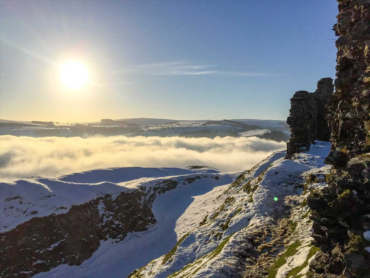 Image of Castell Dinas Bran taken with an iPhone
