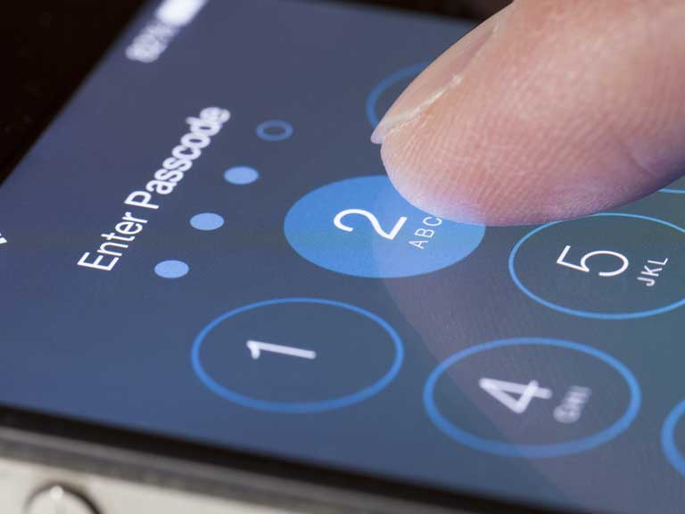iPhone with a passcode to keep it secure