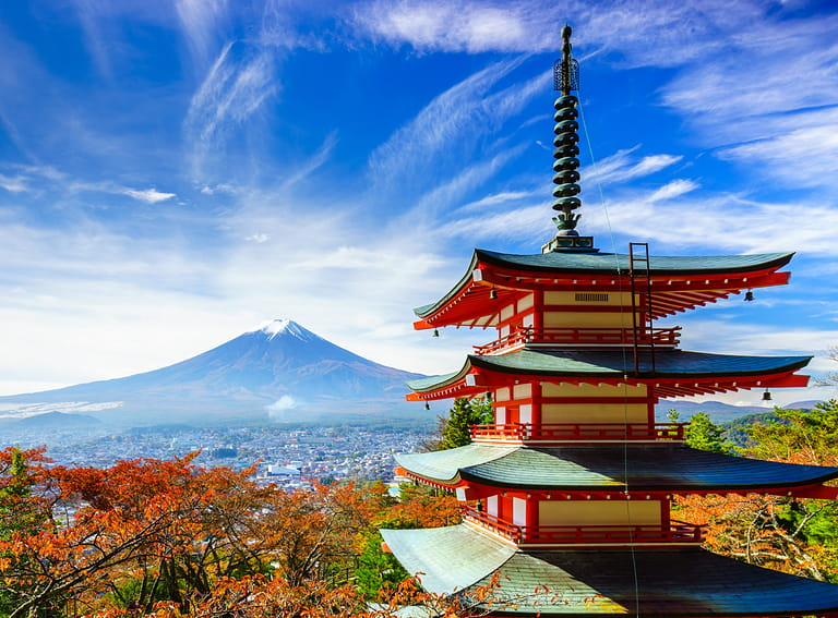 Mount Fuji with Red Pagoda