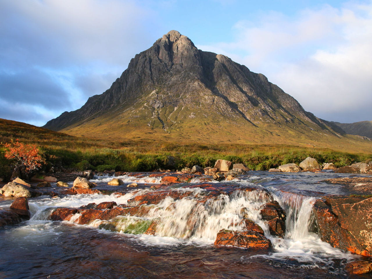 Glen Coe mountain range in Scotland