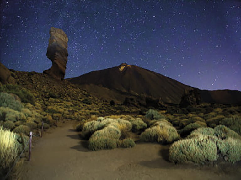 Stargazing from the foothills of Mount Teide