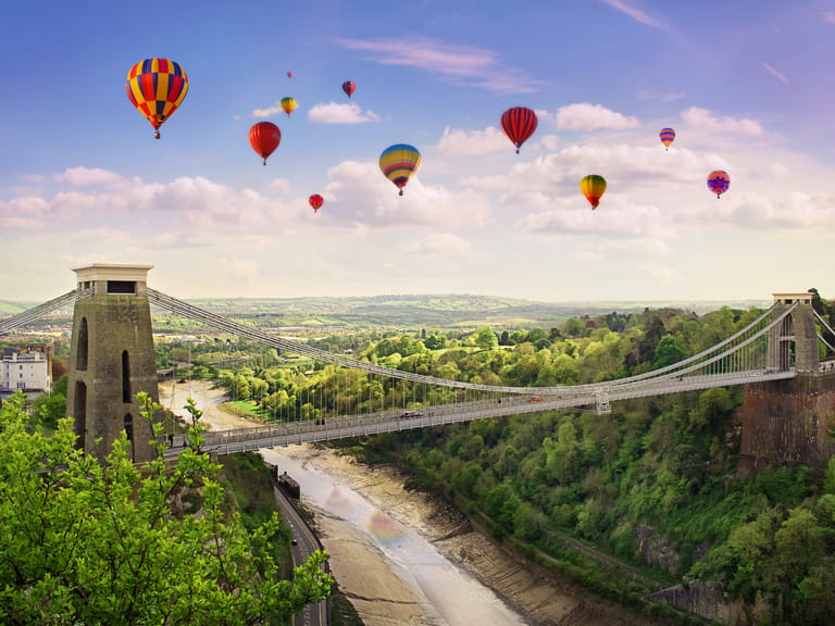 Balloons over Bristol during the Bristol balloon festival