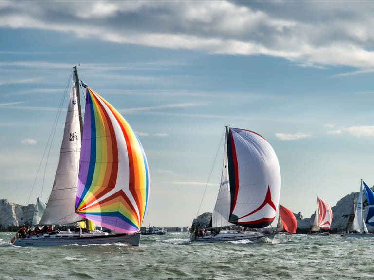 Yachts in the Round the Islands Regatta Race