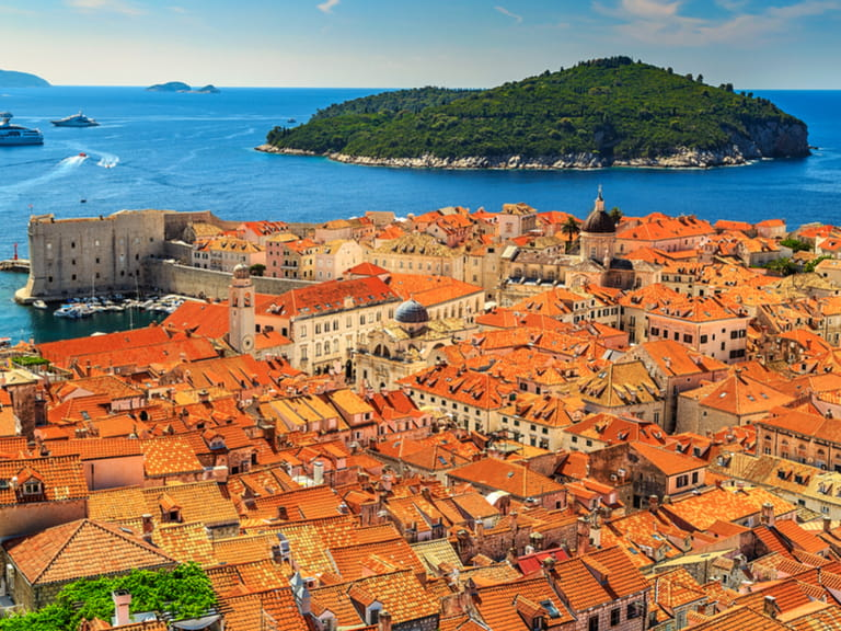 The famous red roofs in Dubrovnik