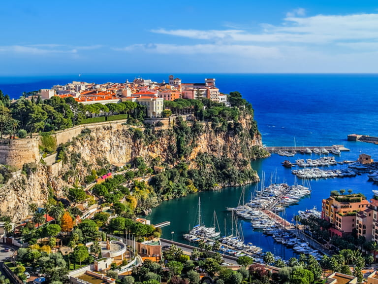 The principality of Monaco in the South of France