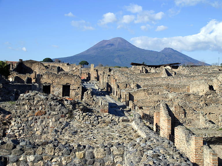 The remains in Pompeii