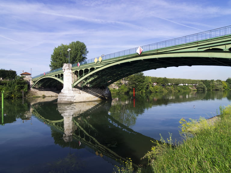 Bridge over the river Marne, France