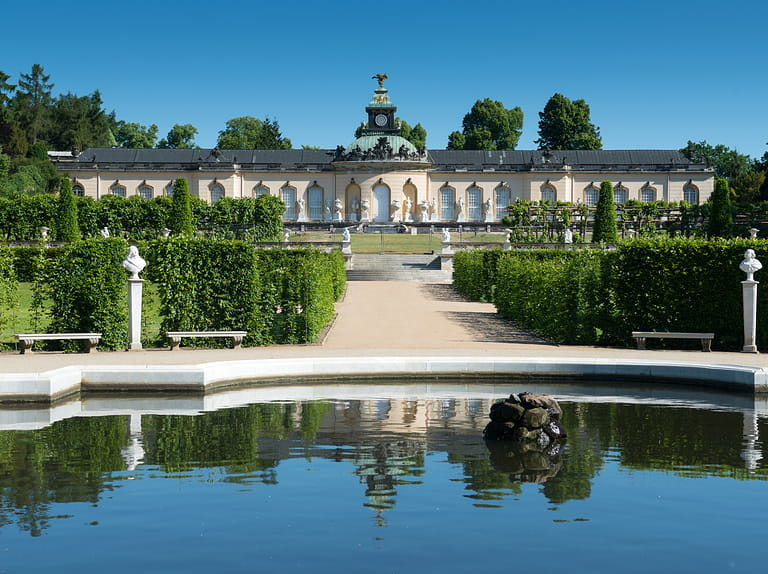 Sanssouci palace and terraced vineyard in Potsdam, Germany