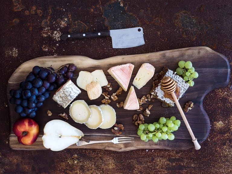 French cheese and wine