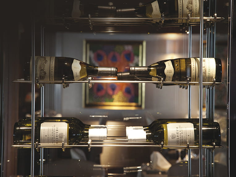 The wine cellar onboard Saga Sapphire is always stocked