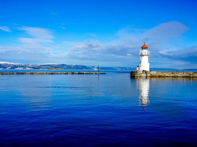 A lighthouse in Trondheim, Norway