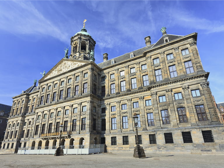 The Royal Palace in Dam Square, Amsterdam, Holland