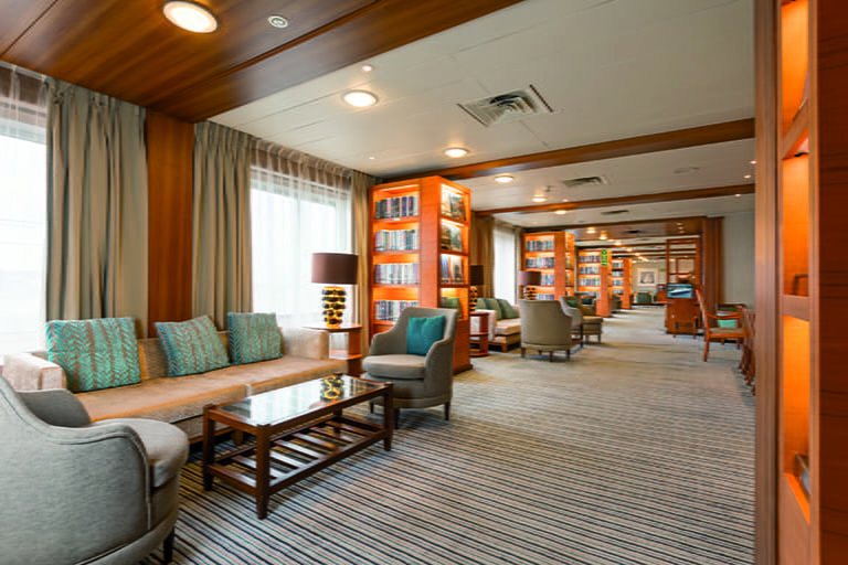 The Library on-board Saga Pearl II