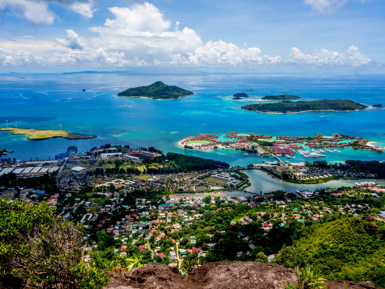 View of the Seychelles from the main island