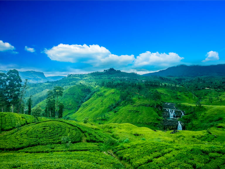 View of mountains in Sri Lanka