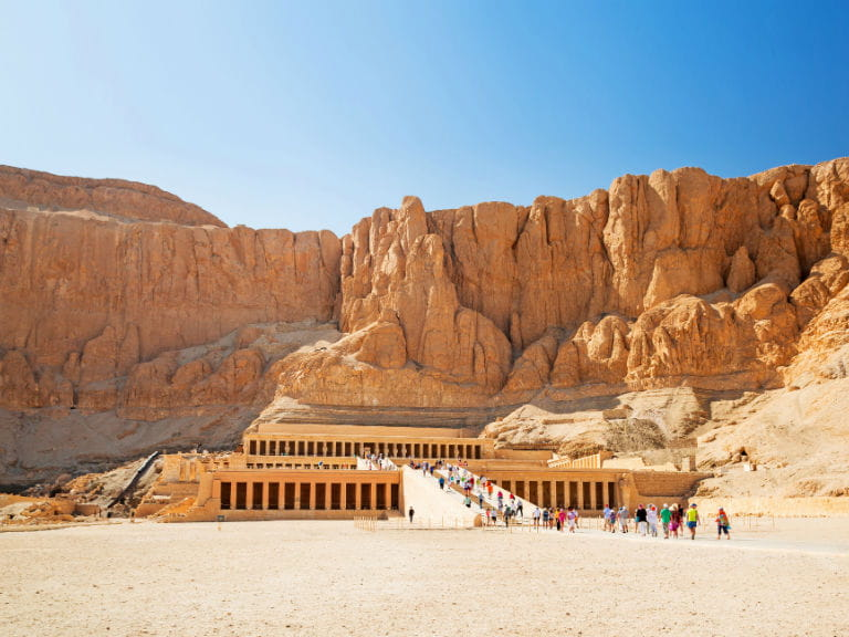 The Mortuary Temple of Queen Hatshepsut, near the Valley of the Kings in Luxor
