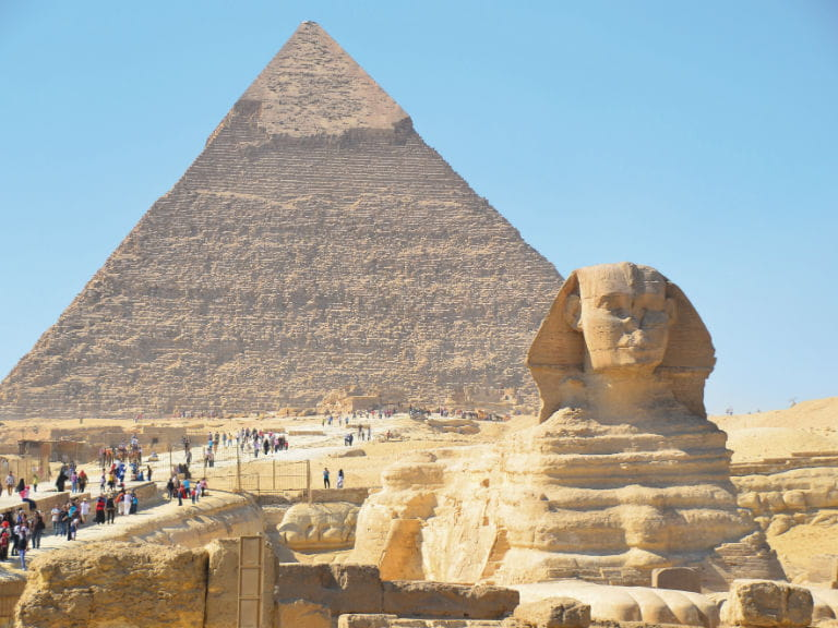 The Pyramid of Khafre and the Great Sphinx of Giza