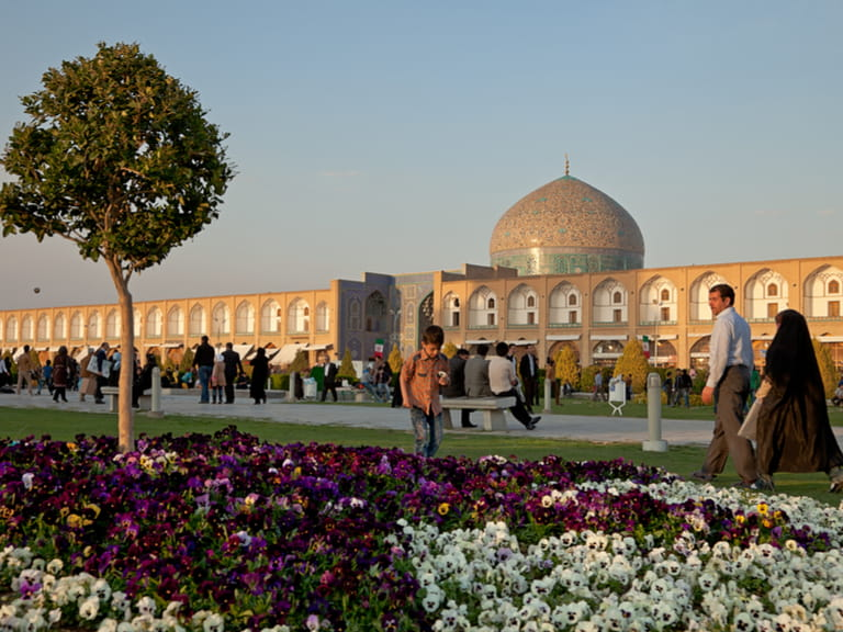 Naqsh-e Jahan Square at sunset