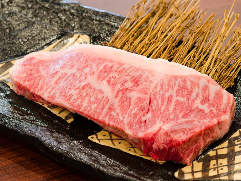 A piece of Kobe beef