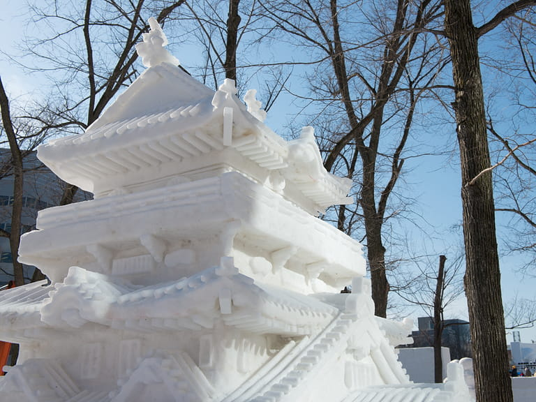 Snow sculpture at the Sapporo Festival, Japan