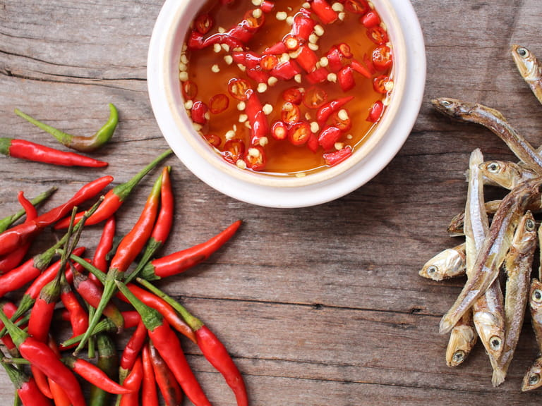 Thai fish sauce, Nam Phrik Pla, fish sauce and chilli