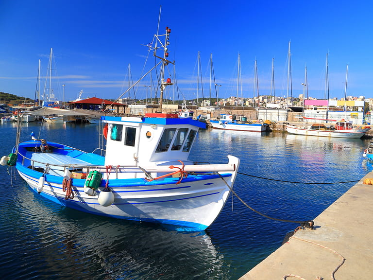 Local fishing boat in Lavrion