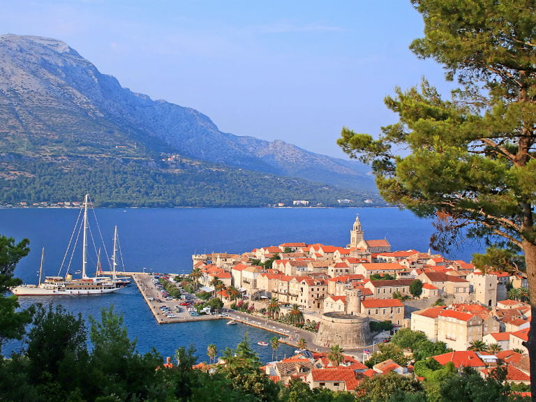 Korcula Island in the Adriatic Sea, Croatia