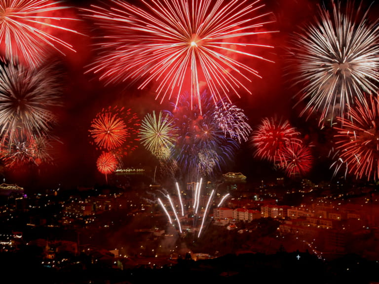 New Years Eve fireworks on the island of Madeira