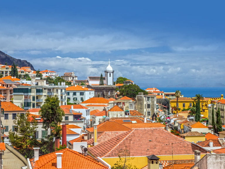 The skyline of Funchal, the capital city of Madeira