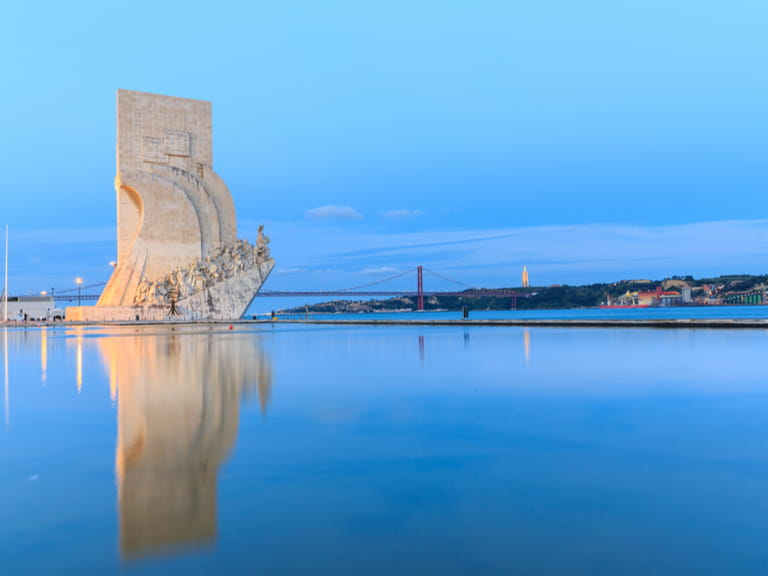 Monument To The Discoveries on the River Tagus, Lisbon, Portugal