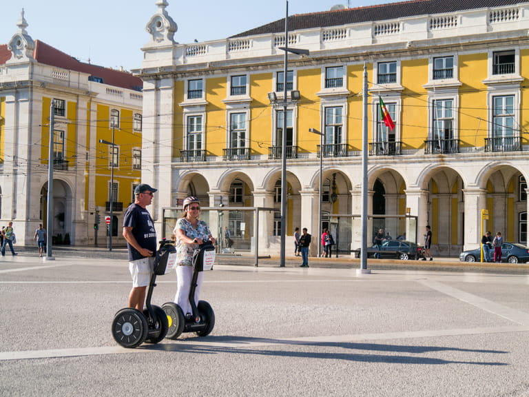 Segways in Lisbon, Portugal