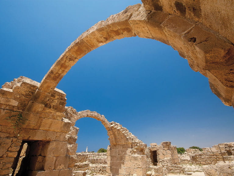 Ancient arches at Kourion, Cyprus