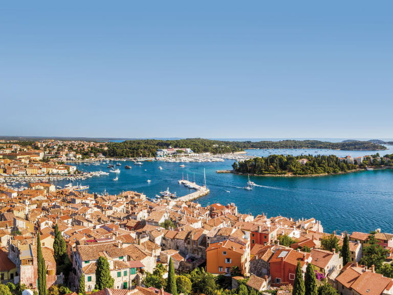 A panoramic view of Rovinj, Croatia