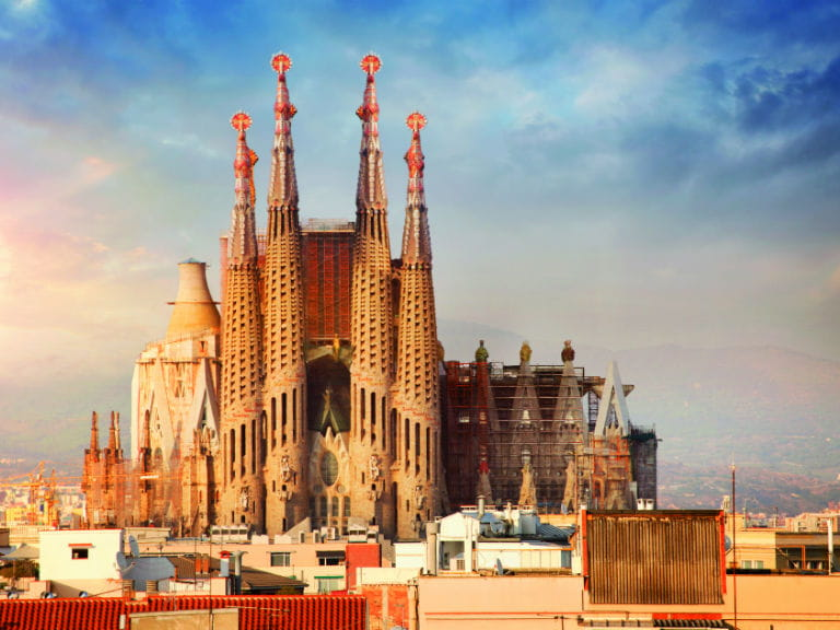 The Sagrada Família in Barcelona, due to be completed in 2026
