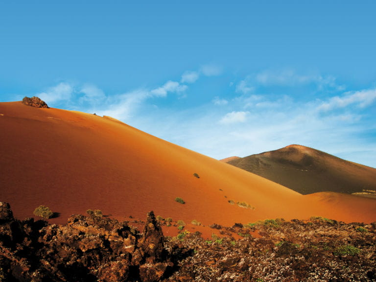 A gigantic sand dune in Lanzarote