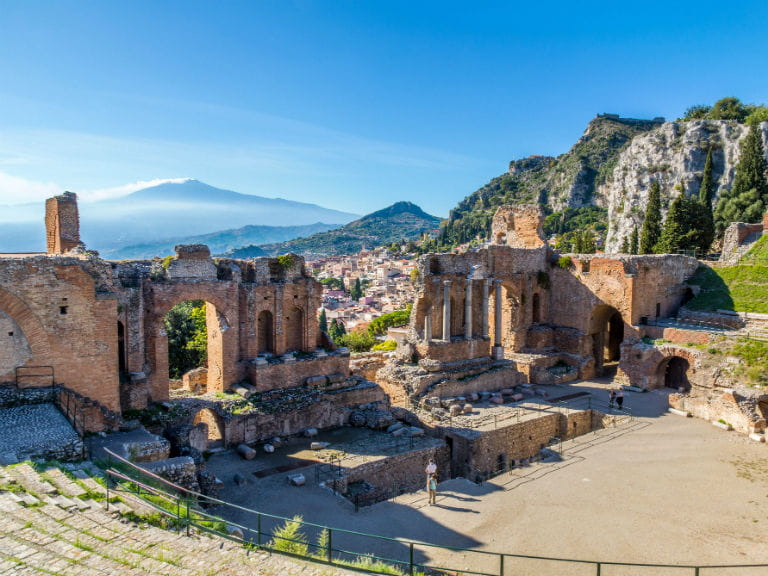 The Ancient theatre of Taormina, Italy