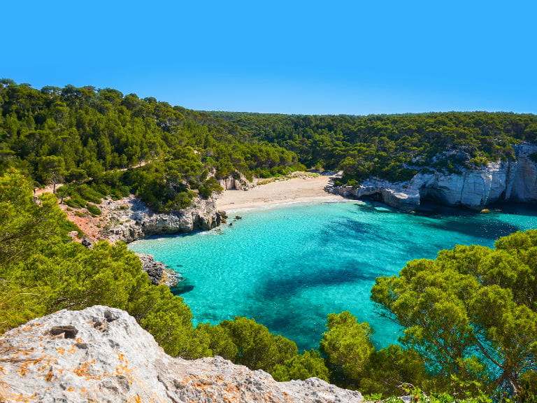 A secluded bay in Menorca