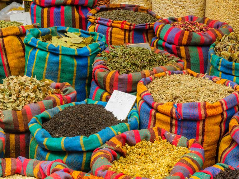 Spices from a market in Akko, Israel