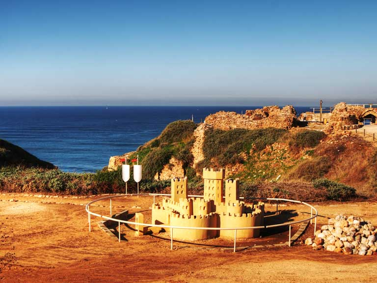 The crusader fortress in Apollonia, Israel