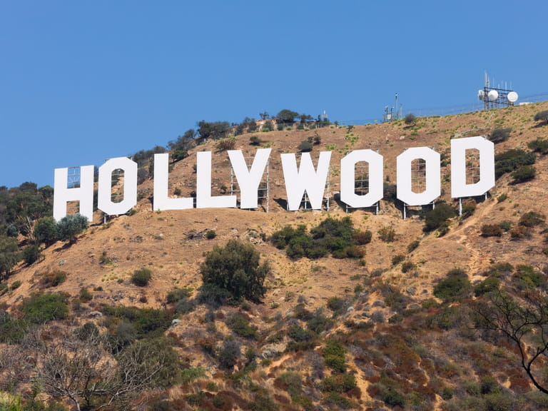 The famous Hollywood sign, Los Angeles=