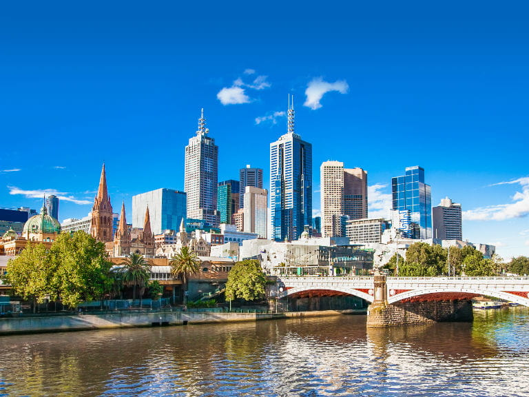 The city skyline of Melbourne, Australia