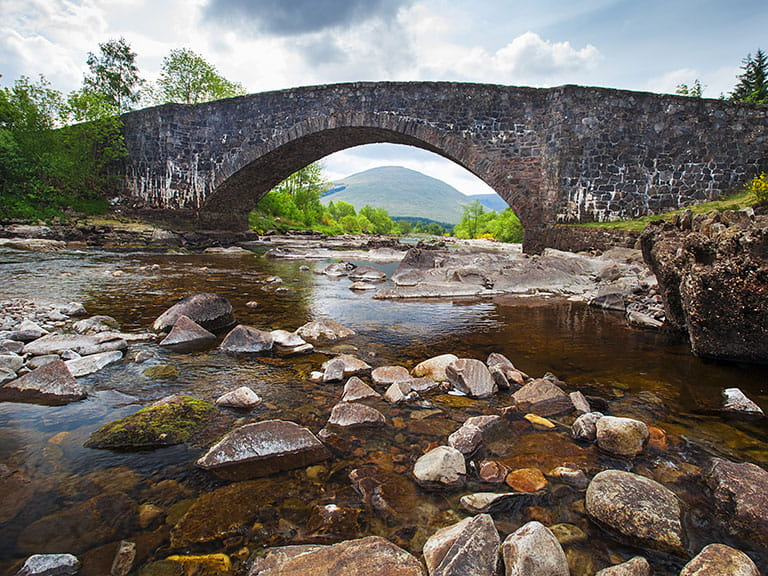 The Bridge of Orchy, on the Stevenson Way, as featured in Kidnapped by Robert Louise Stevenson