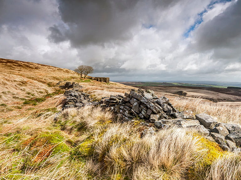 The moody Yorkshire Moors, as featured in Bronte's Wuthering Heights