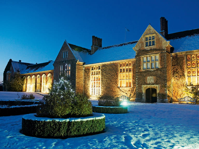 Littlecote hotel in the snow