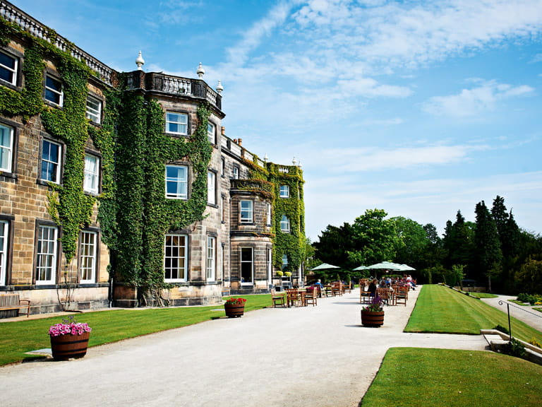 Exterior of Nidd Hall in Yorkshire