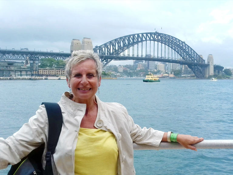 Shelley and Sydney Harbour Bridge