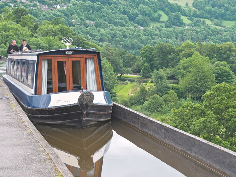 Pontcysyllte Aqueduct on the Llangollen Canal